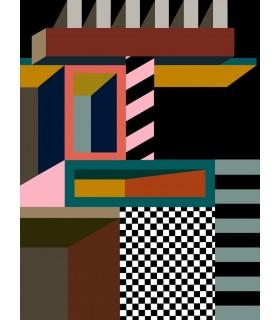 Digital drawn Memphis 7 by Stephane Franck Berthelot - SfB