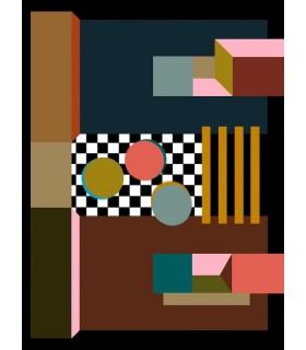 Digital drawing Memphis 2 by Stéphane Franck Berthelot