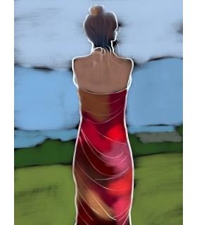Femme regardant la mer par Stéphane Franck Berthelot- SfB