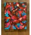 Peinture sur toile Strip red and blue par Mush street art
