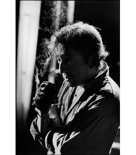 Serge Gainsbourg sur le tournage Charlotte Forever par Tony Frank