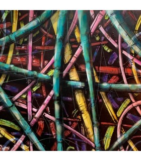 Painting on canvas Bamboo by Mush street art