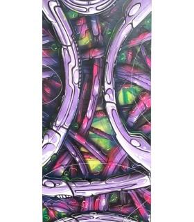 Peinture sur toile Babylon par Mush street art