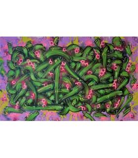 Painting on canvas Mammillaria by Mush street art