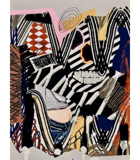 Digital collage Composition VII by Stéphane Franck Berthelot