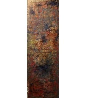 Peinture acrylique et encre sur toile végétale par Flavie Bébéar