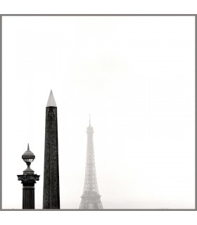 The Eiffel Tower and Concorde Obelisque by Kasra