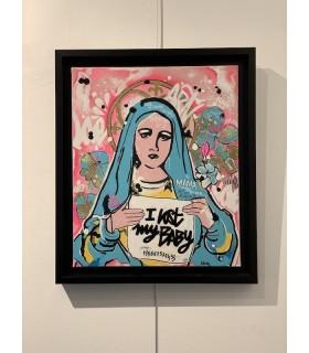 Peinture sur toile MADONE par Déborah Bruni