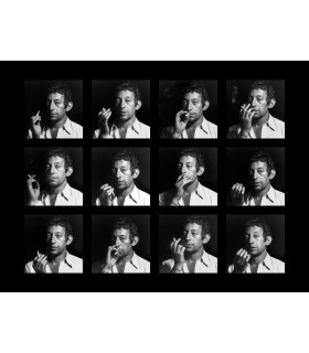 Serge Gainsbourg in 12 portraits by Tony Frank