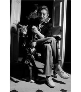 Serge Gainsbourg et sa marionnette par Tony Frank