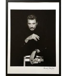 Photo portrait de Johnny Hallyday par François Darmigny