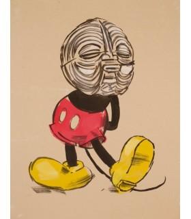 Dessin de Tribal Mickey par Garth Bowden