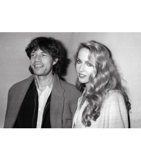 Photo de Mick Jagger et Jerry Hall par Francis Apesteguy